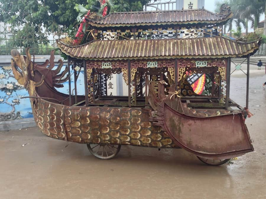 Old Vietnamese funeral cart
