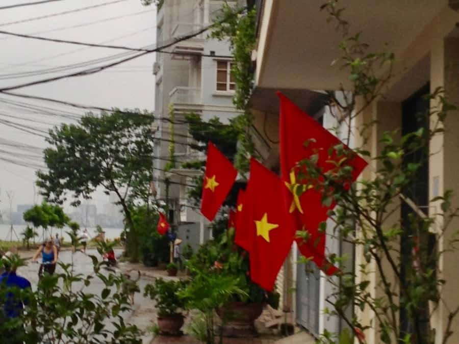Vietnamese Flag flying