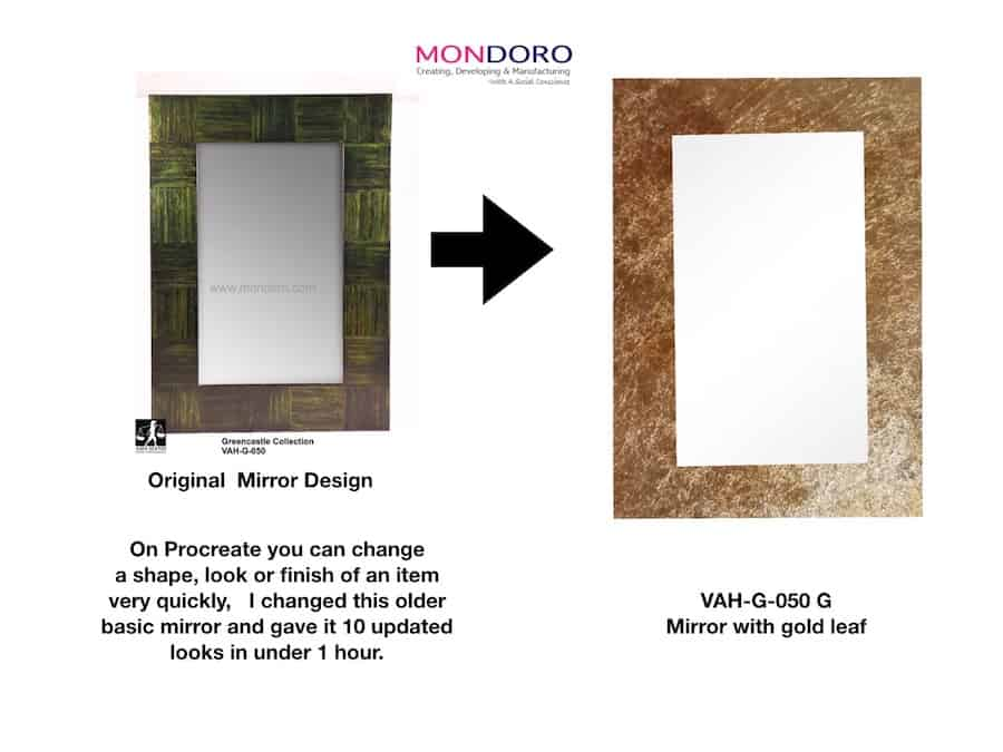 Using Procreate to design a mirror