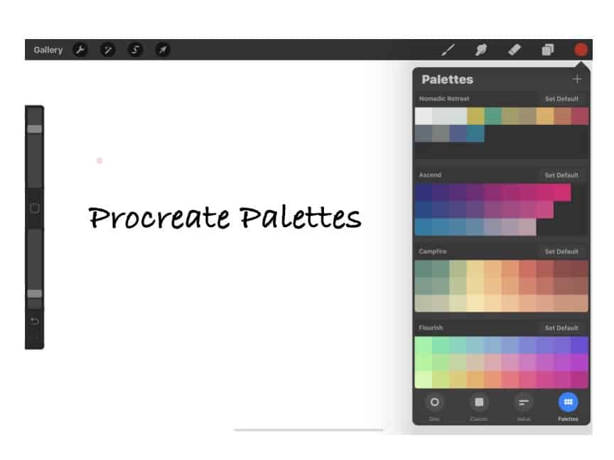 Setting Up Your Color Palettes in Procreate, What You Need to Know