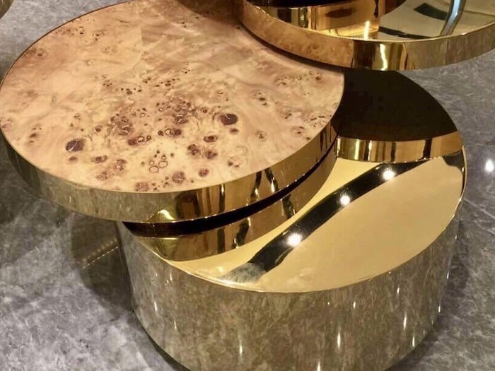 PVD Table with Veneer