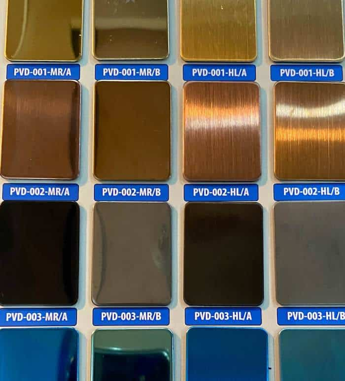 PVD Color Examples