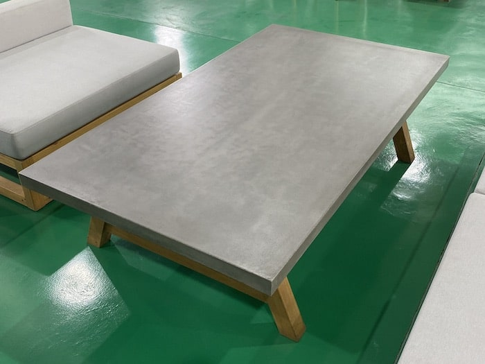 Outdoor Lightweight Concrete Furniture Table