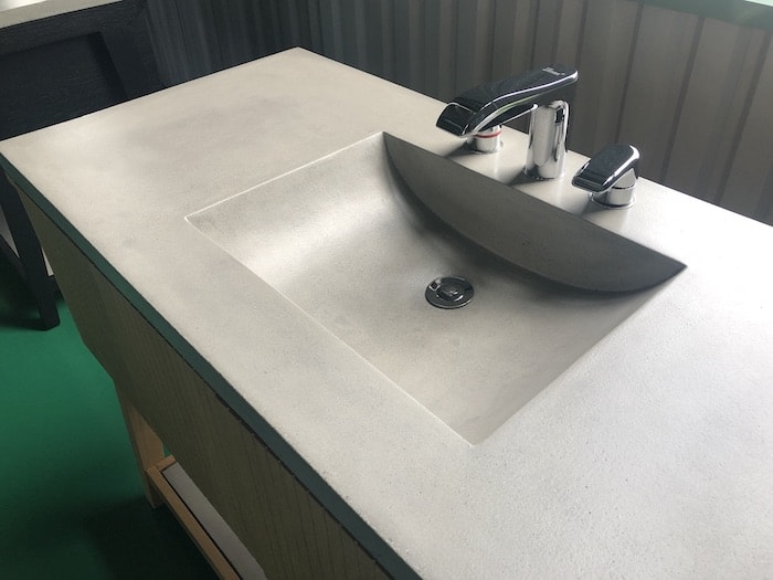 Outdoor Lightweight Concrete Sink Countertop