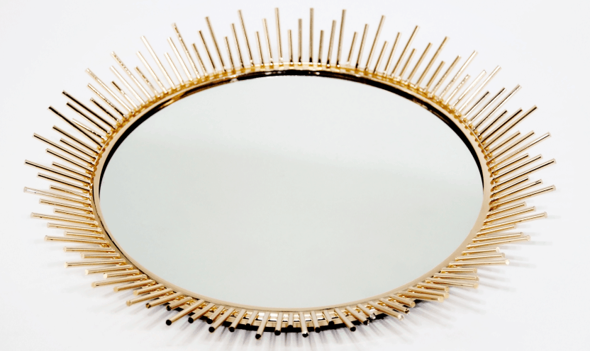 Metal Mirror with Glass