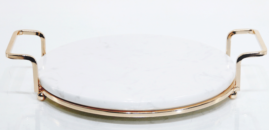 Metal and Marble Tray