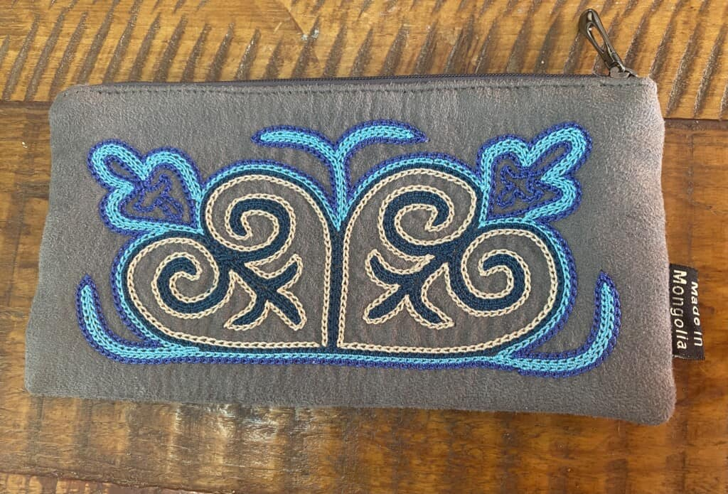Mongolian Kazakh Hand Embroidery - Example of a small bag