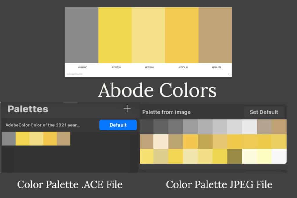 Procreate Color Palettes From Abode Colors