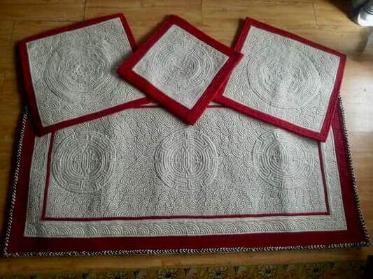 Handmade Traditional Felt Mats From Mongolia