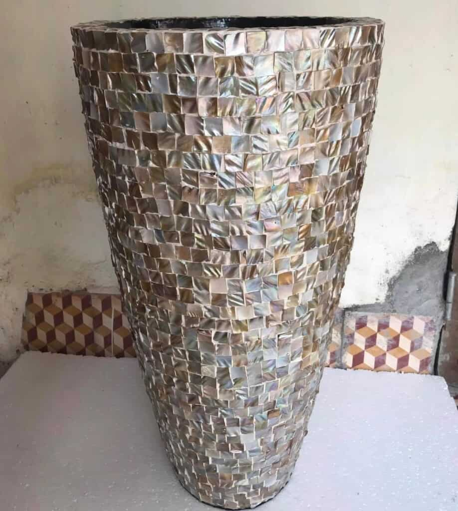 A Mother of Pearl Vase