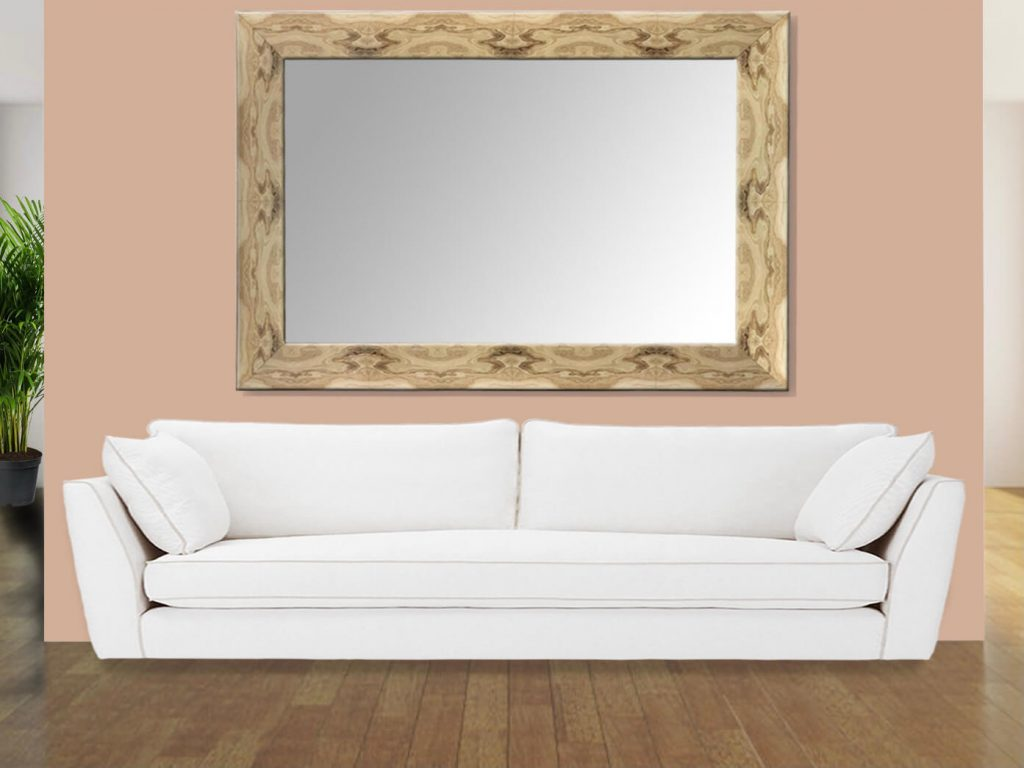 Faux Agate Mirror on Wall